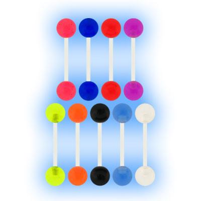 PTFE Barbell Coloured Acrylic Balls