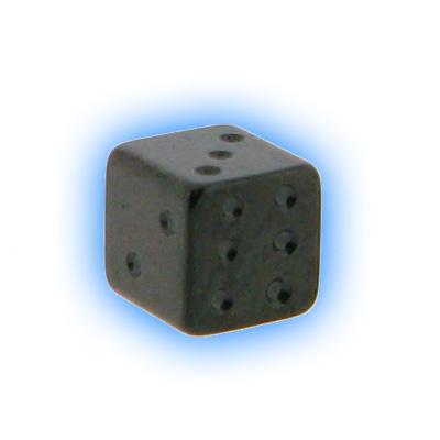 Black PVD Screw On Dice - 1.6mm (14g)