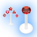 BioFlex Internal Labret Mixed Value Set - Red Shapes