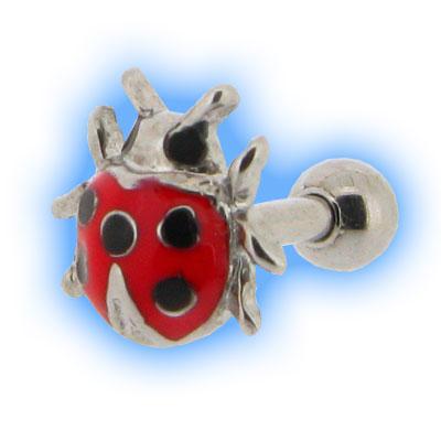 Ladybug Ear Stud Ladybird for Tragus Helix Piercings