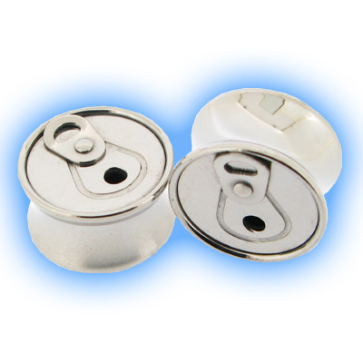 Stainless Steel Ear Plug - Can Ring Pull