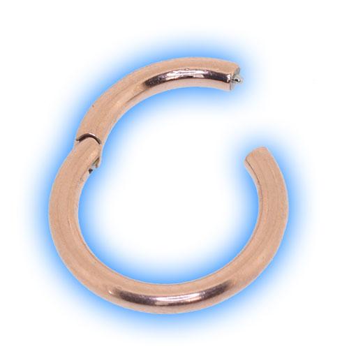 Rose Gold Hinged Segment Ring - 0.8mm (20 gauge)