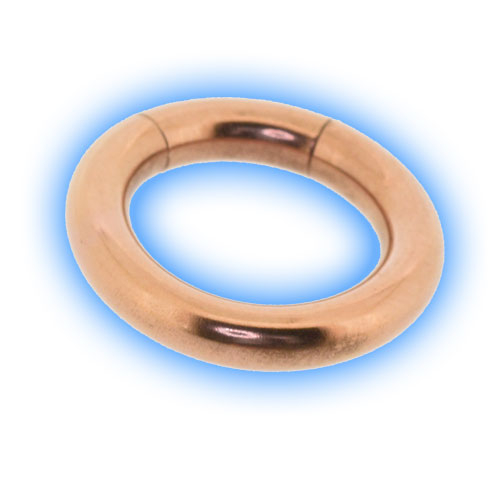 Rose Gold Plated Steel Large Gauge Segment Ring