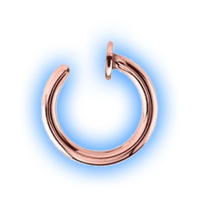 Rose Gold Plated Open Nose Ring