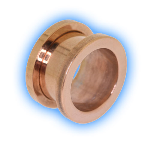 18k Rose Gold Plated Stainless Steel Screw Tunnel
