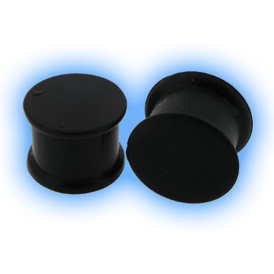 Black Silicone Flesh Plug