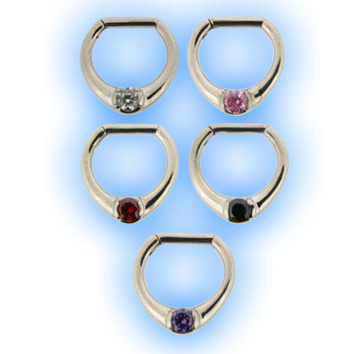Single Jewelled Septum Clicker