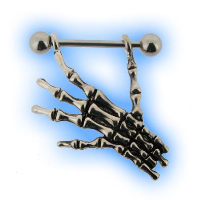 Gothic Skeleton Hand Nipple Shield