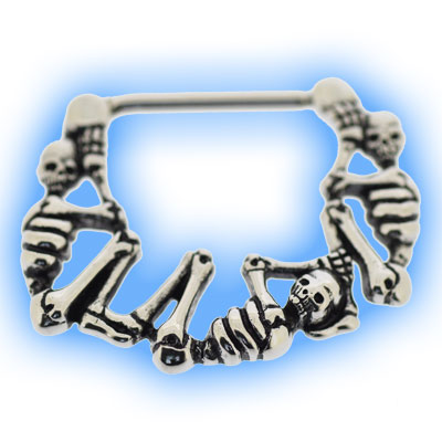 Skeleton Bones Nipple Clicker