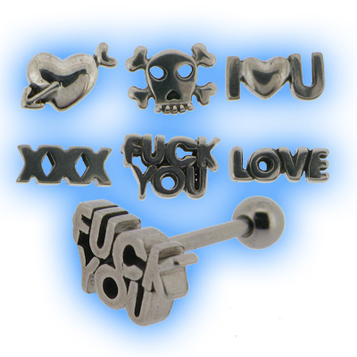 Steel 3D Logo Tongue Bars