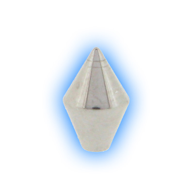 Stainless Steel Screw On Diamond Cone - 1.6mm (14g)