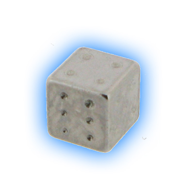 Stainless Steel Screw On Dice - 1.2mm (16g)