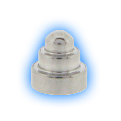 Stainless Steel Screw On Dumbbell Cone - 1.6mm (14g)