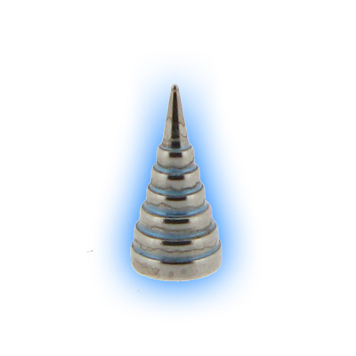 Stainless Steel Screw On Steep Cone - 1.6mm (14g)
