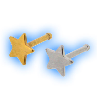 316 Stainless Steel Straight Star Nose Stud