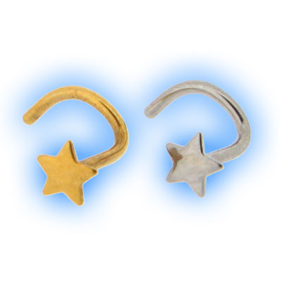 316 Stainless Steel Bent Star Nose Stud