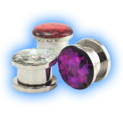Glitter Steel Ear Plug