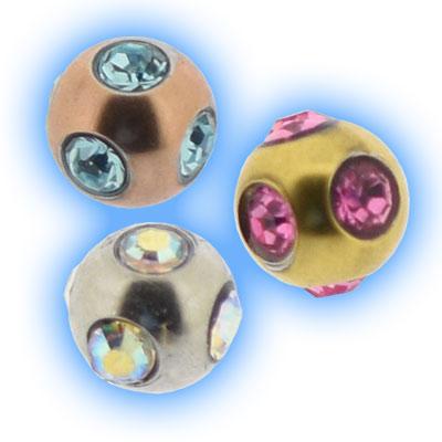 Multigem Ball for piercing jewellery - 1.2mm (16g) x 3mm