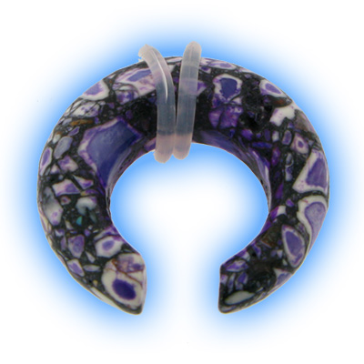 Buffalo Ear Stretching Expander Purple Agate