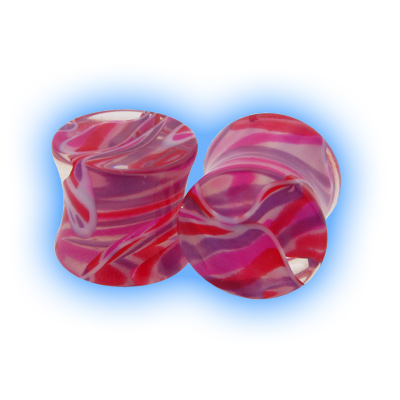 Lava Acrylic Flesh Plug - Pink Purple