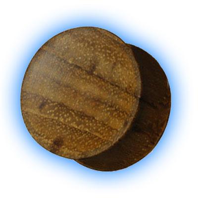 Pair of Teak Wood Flesh Plugs