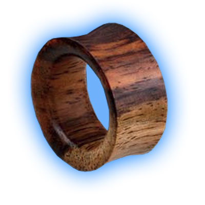 Pair of Teak Wood Flesh Tunnels