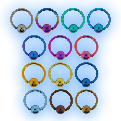 1.2mm (16g) Titanium Ball Closure Ring - Plain Ball