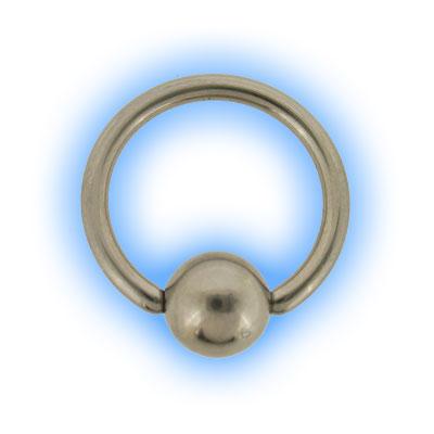 1.2mm (16g) Stainless Steel Ball Closure Ring - Plain Ball