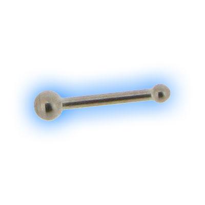 Straight Titanium Ball End Nose Bone - 0.8mm (20g)