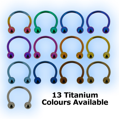 Titanium Circular Barbell With Balls - CBB 1mm (18 gauge)
