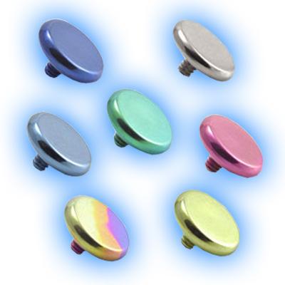 1.2mm (16g) Titanium Internally Threaded Flat Disc