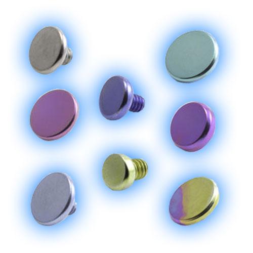 Titanium Internally Threaded Flat Disc - 1.6mm (14 gauge)