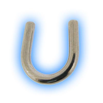 U Shaped Titanium Septum Keeper Piercing Retainer