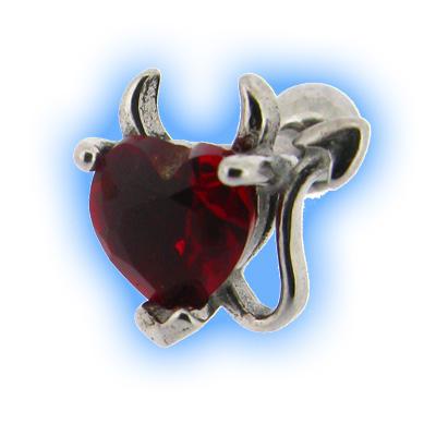Horny Heart Upper Ear Stud