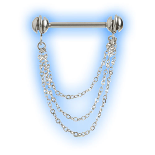 Dangling Chain Trio Nipple Bar