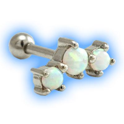 Triple Opal Ear Stud