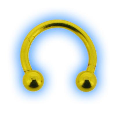 Yellow Neon Circular Barbell CBB - 1.6mm (14 gauge)