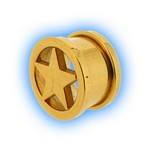 Gold Plated Star Screw Tunnel