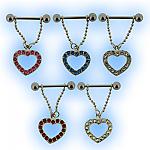 Dangling Open Heart Nipple Shield