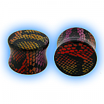 Ear Stretching Plug Acrylic Snake Skin - Multi