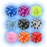 Spare Body Jewellery Dice - 1.6mm (14g) Acrylic Dice