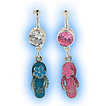 Fake Belly Ring with Dangling Flip Flop