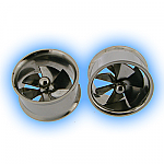 Stainless Steel Ear Tunnel - Spinning Pin Wheel