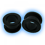 Ear Stretching Tunnel - Black Acrylic Screw Tunnel