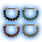 Multi Jewelled Septum Clicker