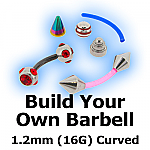 Build Your Own Curved Barbell 1.2mm (16G)