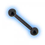 Black PVD Titanium Straight Barbell - 1.2mm (16G)