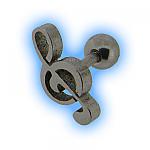 Treble Clef Ear Stud Musical Ear Jewellery