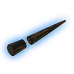 Fake Ear Stretcher Straight Wooden Taper