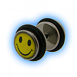Smiley Design Fake Plain Ear Stretching Plug